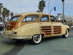 1948 Packard  Woody Station Sedan Wagon Jacqueline Gillam Fairchild Her Majesty's English Tea Room Author: Make Me Over