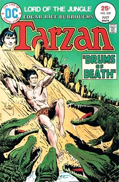Tarzan #239 Cover Art by Joe Kubert