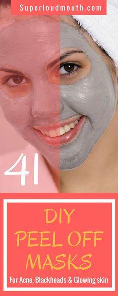 Homemade Peel off Masks for Acne, Blackheads and Skin whitening #SaltFaceScrub Homemade Peel Off Mask, Diy Peel Off Mask, Homemade Acne Mask, Face Peel Mask, Face Scrub Homemade, Diy Face Mask, Face Masks, Natural Skin Whitening, Skin Care Routine For 20s