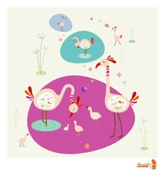 Flamingo Print...  Giclee print of an original by joom on Etsy, $20.00