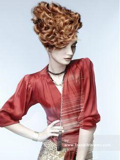 ERROL DOUGLAS Lange Weiblich Blonde Curly Farbige Plastische Hochsteckfrisur Multi-tonalen Frauen Frisuren hairstyles
