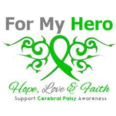 Cerebral Palsy Tribal Ribbon Hero