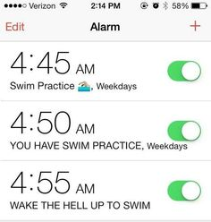 Waking up for morning practice at an ungodly hour. | 26 Unforgettable Struggles Of Being A Swimmer