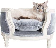 Lord Lou luxury cat sofa George pile grey