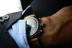 Classy... Real watch, real button holes