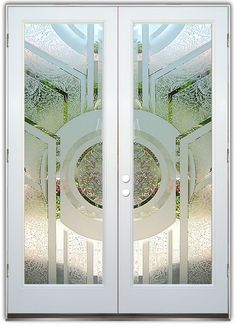 Sun Odyssey 3D - semi private - Double Entry Doors Hand-crafted, sandblast frosted and 3D carved. Available as interior or entry door in 8 woods and 2 fiberglass. Slab door or prehung any size, or as glass insert only. Our fun, easy to use online Glass and Door Designer gives you instant pricing as YOU customize your door and glass! When you're all finished designing, you can place your order right there online! Doors ship worldwide from Palm Desert, CA