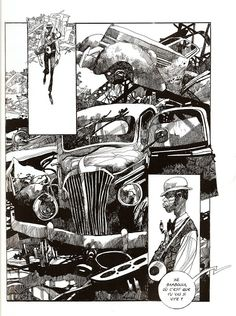 Amazing work by Italian illustrator/comics artist Sergio Toppi Find more here , here , or here . Comic Book Artists, Comic Artist, Comic Books Art, Ink Illustrations, Illustration Art, Bd Art, Tachisme, Comic Layout, Graphic Novel Art
