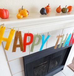 DIY Felt Letter Garland ~ Be Different.Act Normal You are in the right place about Diy Felt Garlan Thanksgiving Banner, Thanksgiving Crafts, Holiday Crafts, Holiday Fun, Happy Thanksgiving, Thanksgiving Decorations, Holiday Ideas, Holiday Banner, Fall Decorations