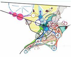 ATATÜRK ÜNİVERSİTESİ ŞEHİR VE BÖLGE PLANLAMA BÖLÜMÜ ERZURUM İLİ ALTERNATİF PLAN ŞEMASI Urban Design Concept, Urban Design Diagram, Urban Design Plan, Conceptual Sketches, City Layout, Architecture Concept Diagram, Urban Analysis, Abstract City, Map Design