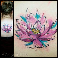 watercolor lotus by Russell van Schaick