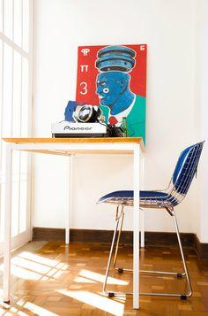 Desk Space e Cadeira Bertoia. Gostou? Acesse www.oppa.com.br