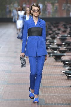 Kenzo SPRING/SUMMER 2014 Collection - Kenzo Collections - Blue Business Outfit