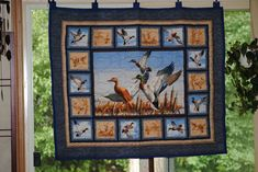 I quite like this elegant photo Hanging Quilts, Quilted Wall Hangings, Hunting Cabin Decor, Modern Quilt Blocks, Dream Catcher Native American, Quilt Storage, Quilting Frames, Vintage Picture Frames, Handmade Baby Quilts