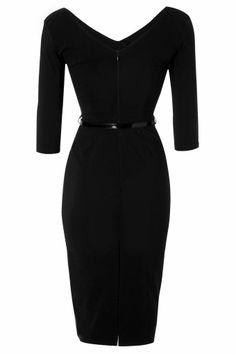So Couture - Burbank Black Pencil Dress