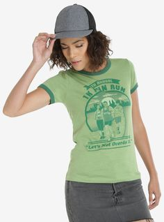 5k? 5k seems really, really far. Especially when there are only so many hours before brunch. Celebrate the 1k with this green short sleeve ringer tee. Take it easy while getting a little distance in.   52% cotton; 48% polyester  Wash cold; dry low  Imported  Listed in women's sizes