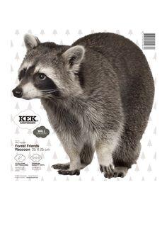 Muursticker dieren wasbeer Forest Friends Raccoon.