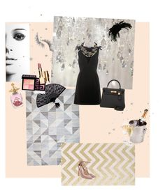 """""""softer side of noir/ new years party?"""" by mb33 ❤ liked on Polyvore featuring Beauty Is Life, Miu Miu, Retrò, Givenchy, Clarins, Gregory Ladner, Vivienne Westwood, Alexis Bittar and Hermès"""