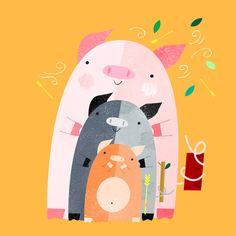 pete cromer #pigs #illustration More
