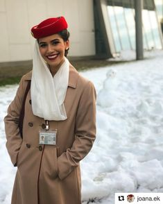 Rare picture of the master and her creation snowman ⛄️ have you seen me doing it on my instastories? How bad was I? Airline Humor, Emirates Cabin Crew, Airline Cabin Crew, Emirates Airline, Airplane Photography, Flight Attendant Life, International Airlines, Dubai, Female