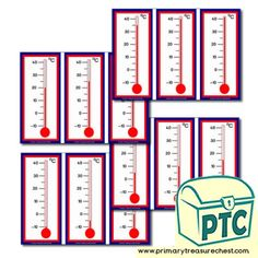 Temperatures / Thermometer - Primary Treasure Chest Teaching Math, Teaching Resources, Teaching Ideas, Sensory Activities, Activities For Kids, Maths Display, Maths Area, Treasure Chest, Children