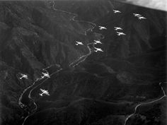 American B-17 Flying Fortress bombers in the sky over Italy.