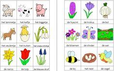 Dit woordweb in het thema lente kun je downloaden op de website van Juf Milou. Homeschool, Anna, Logos, A Logo, Homeschooling, Logo, Legos