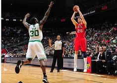 Kyle Korver from behind the arc. Korver hit three big ones for 9 total points.
