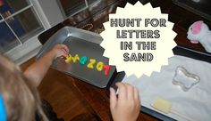Kill some time by setting up a letter game...help your preschooler search for letters in the sand!