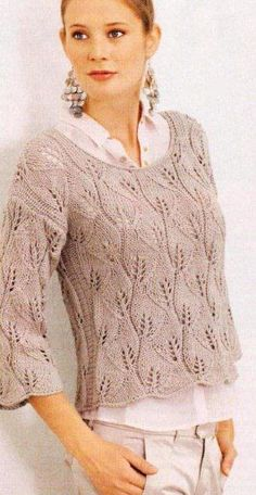 Russischer Online-Tagebuchservice - ropa punto y crochet - Knitting Machine Patterns, Knitting Patterns, Crochet Patterns, Easy Knitting, Knitting Stitches, Clothes For Pregnant Women, Pulls, Knitting Projects, Knitwear