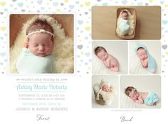 Simply Clean Birth Announcement Template 10
