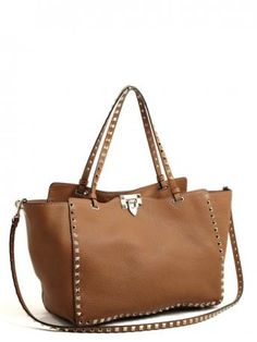 18ae99e691 Valentino Garavani-rockstud medium tote light cuir-rockstud medium tote  cuoio