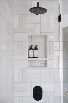 Home Interior Modern .Home Interior Modern White Subway Tile Bathroom, Modern Bathroom Tile, Bathroom Interior Design, Home Interior, Bathroom Wall, Remodel Bathroom, Bathroom Cabinets, Cosy Bathroom, Bathroom Designs