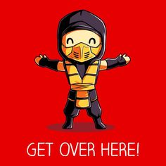 Get Over Here! T-Shirt Mortal Kombat TeeTurtle