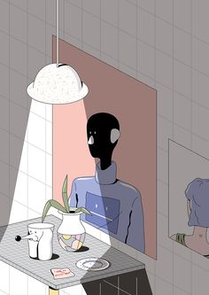 Thai illustrator Tanawat Sakdawisarak has a coolly surreal aesthetic.