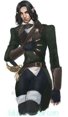"""kiikiibee: """"super dreamy/broody Elezen named Raven for @housealderscorn! """""""