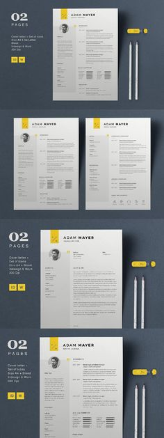 Click for more Resume Templates #resume #graphics #ResumeTemplates #resume #GraphicDesign #CVTemplate #cv #PrintDesign #stationery #GraphicDesigner #work #template #job #behance #StationeryTemplates #designer #template #professional #application #StationeryShop One Page Resume Template, Sample Resume Templates, Resume Design Template, Stationery Templates, Creative Resume Templates, Cv Template, Stationery Design, Print Templates, Web Designer Resume