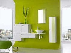 Bathroom Decoration With Greenery Pantone Of The Year Lime
