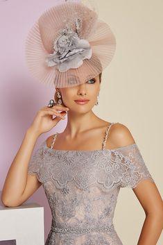 Ronald Joyce 991404 Vintage Style Lace Tea Dress in Coffee/Ivory & Steel/Blossom.