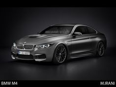BMW M4 Coupe (F82) imagined with M6 bumper, M3 hood bump, 1M gills