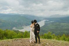 Klondike themed wedding shot by Nordica Photography