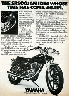 1978 Yamaha SR500 Advertisement Car And Driver May 1978 by SenseiAlan, via Flickr