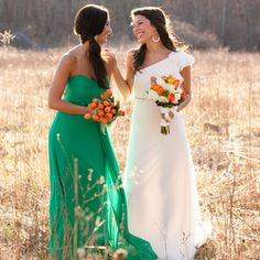 Whether you prefer a bright or subtle palette, this green and orange shoot is full of inspiring ideas...