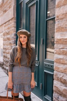 How to Pull Off a Beret, According to Style Bloggers - Photos = Like this look, so obviously my beret is too small to wear like this!