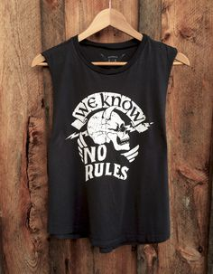 No Rules Muscle Tee Blk/Wht