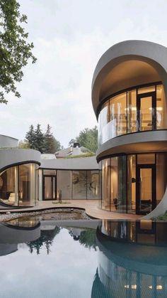Model Architecture, Architecture Design Concept, Organic Architecture, Modern Architecture House, Futuristic Architecture, Amazing Architecture, Modern House Design, Modern Houses, Russian Architecture