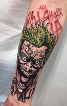 101 Joker tattoo designs for men – (incl, legs, backs, sleeves, etc) Joker Tattoos, Marvel Tattoos, Clown Tattoo, Batman Tattoo, Forearm Tattoos, Body Art Tattoos, New Tattoos, Sleeve Tattoos, Retro Tattoos