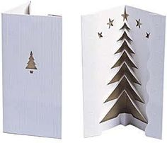 handmade pop up cards | Another version of pop-up Christmas tree card that I love. I am still ...