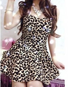 Leopard Print Cocktail Dress - Fn Dress