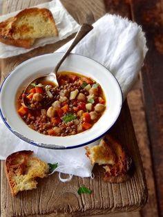 Rustic italian, Lentil soup and Lentils on Pinterest