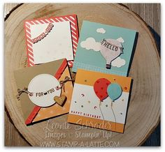 Fun square cards usi